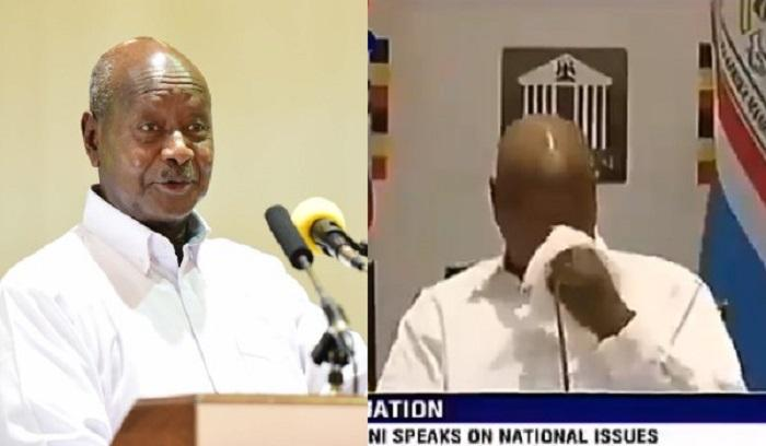 Ugandan President Yoweri Museveni spits on live TV: VIDEO