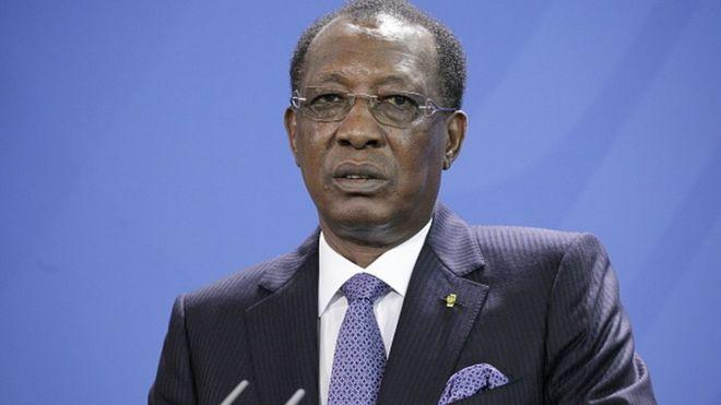 Photo of Chadian president Idriss Deby visiting Israel after 47 years