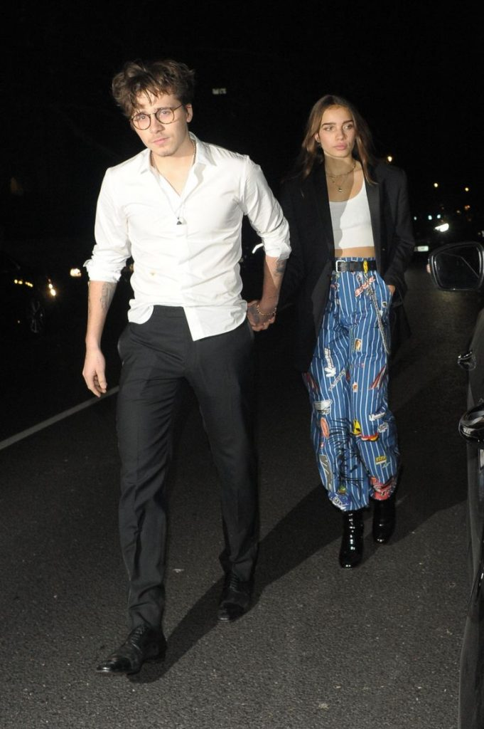 """Brooklyn Beckham falls for a British model"" 1"