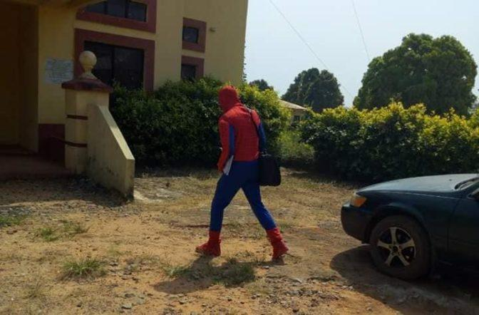 ANSU Lecturer become Spiderman to help his students [Photos] 2