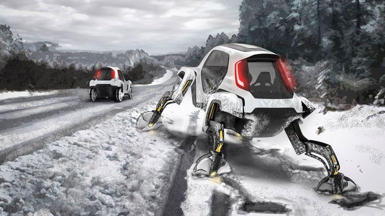 Walking car: Meet the Elevate, the car with robot 'walking' legs 1