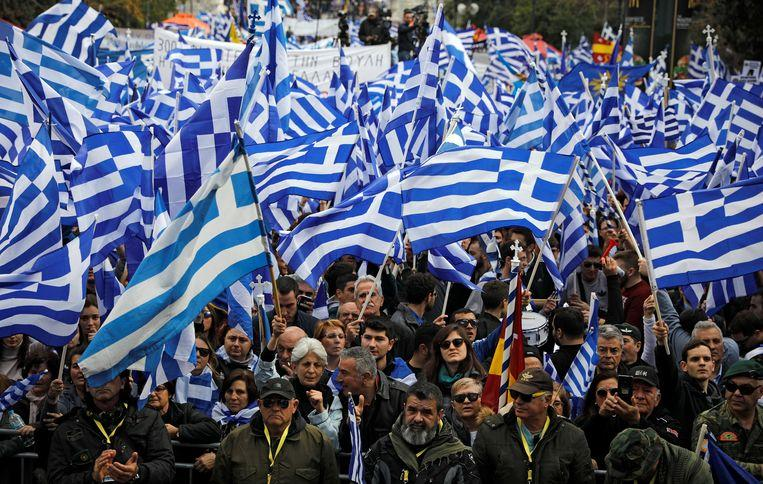 Thousands of demonstrators in Athens against agreement on new name 2