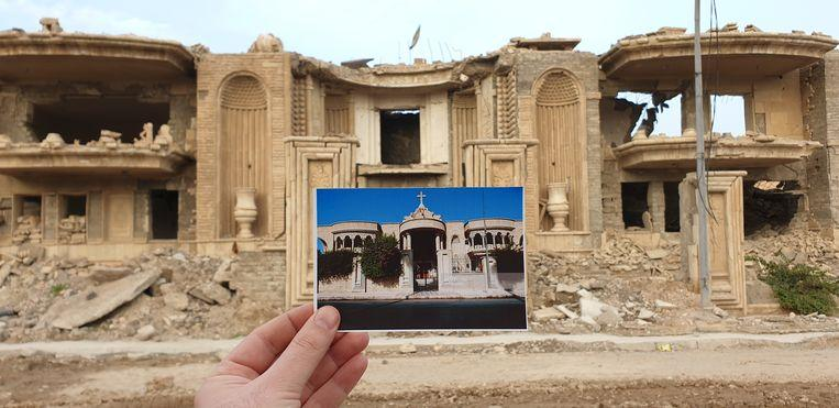 Before and after: old postcards show destruction by IS 2