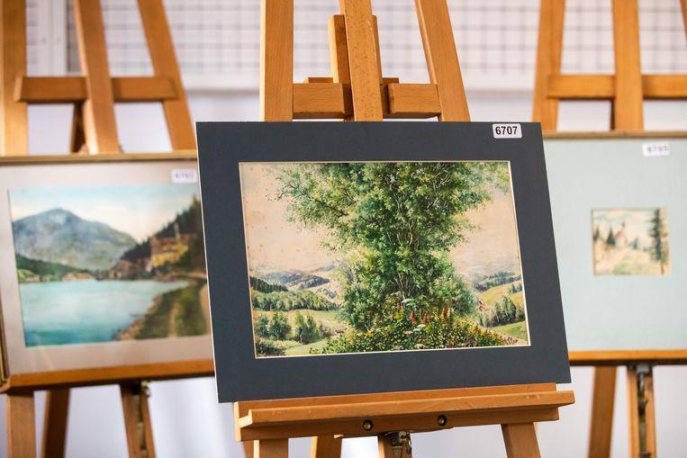 No buyer for controversial watercolours of 'A. Hitler' auctioned