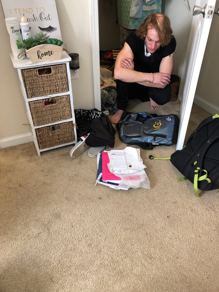 Drew found in Maddie's Wardrobe
