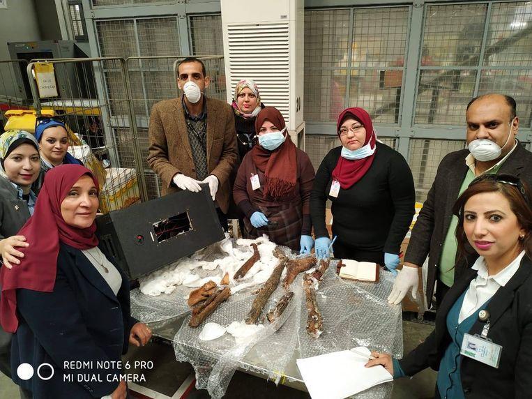 Egyptian customs intercepts remnants of mummies smuggling to Belgium