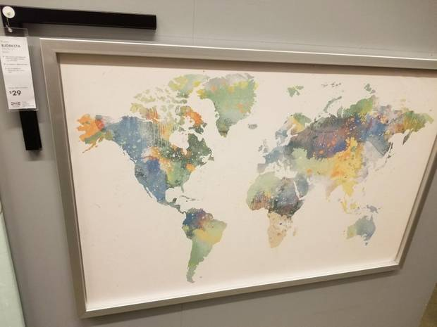 Ikea 'forgets' New Zealand on a world map