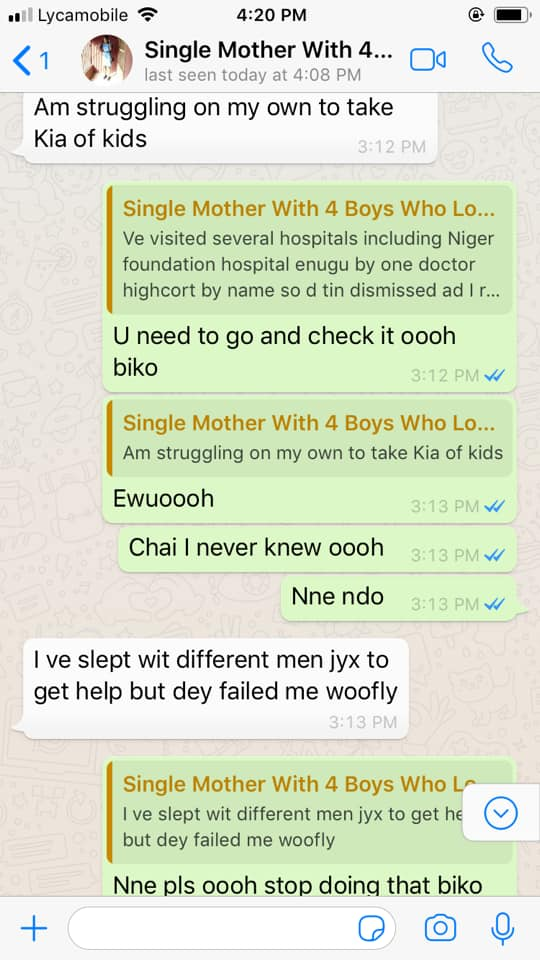 """I slept with different men for help, they failed"" – Woman reveals"