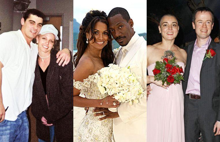 Divorced after 6 hours: these are the shortest marriages of celebrities ever