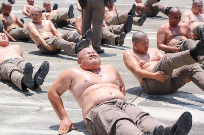 What the Thai government did to Overweight policemen