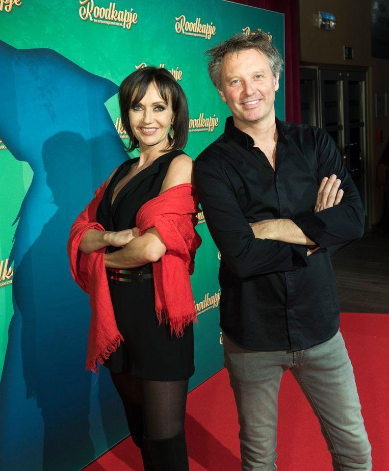 Chris Van Tongelen and Brigitte Derks at the premiere of the musical 'Little Red Riding Hood', which they worked on together.