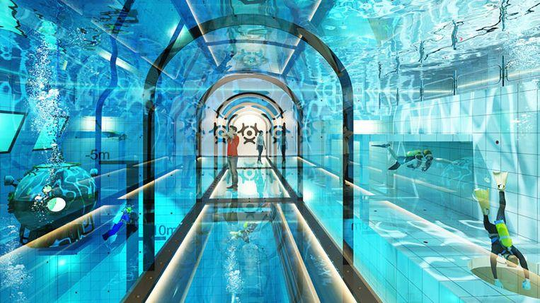 World's deepest swimming pool in Poland: Deepspot 45m deep
