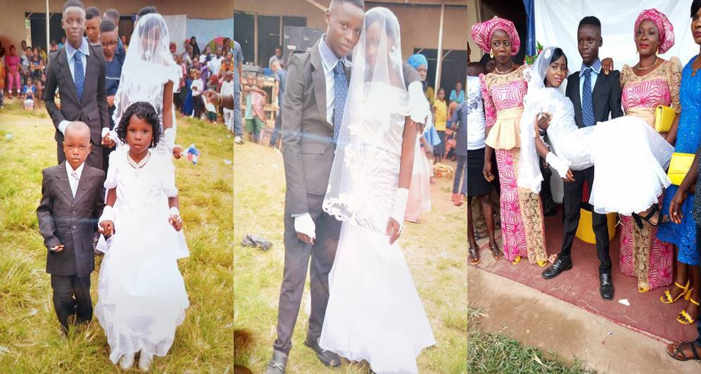 Nigeria: 19-year-olds get married with great fanfare [photos]