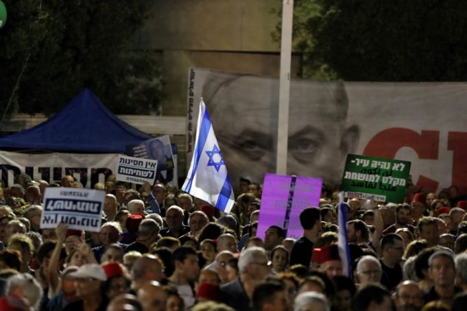 Thousands of Israelis are protesting against Netanyahu