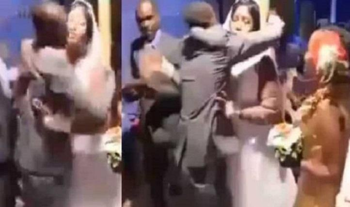 Jealous Bridegroom beats best man for hugging the bride [Video]