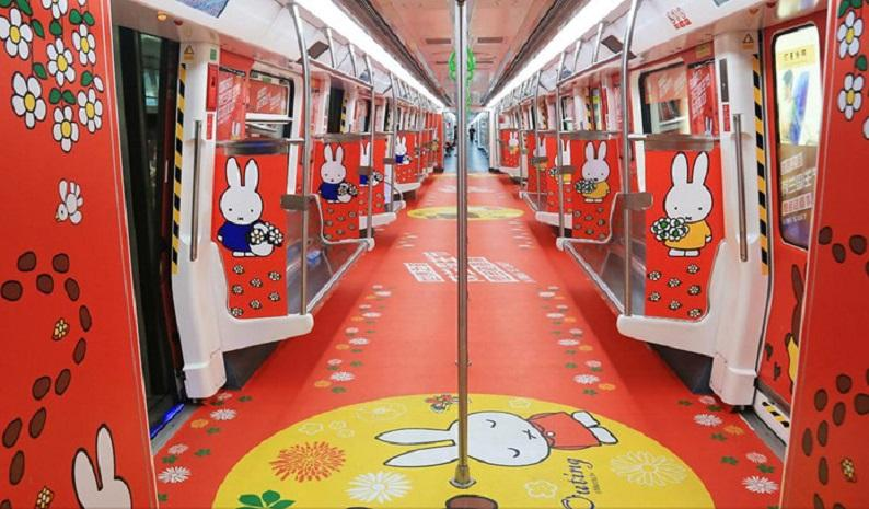 The Chinese city of Shenzhen has a real Miffy subway