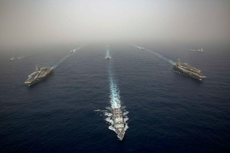 """Clear message to Iran"": US deploying warship in Middle East"