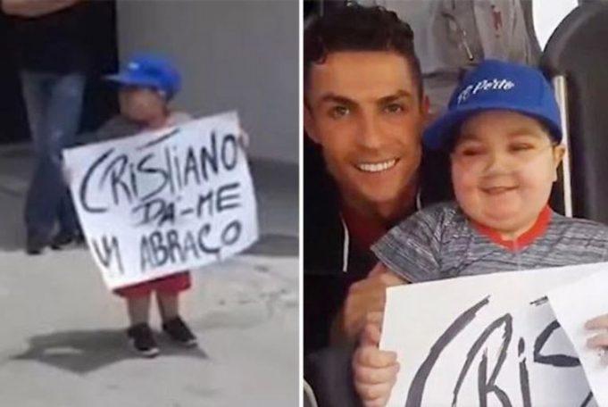 Ronaldo has Portuguese team bus stop to fulfill sick boy's dream