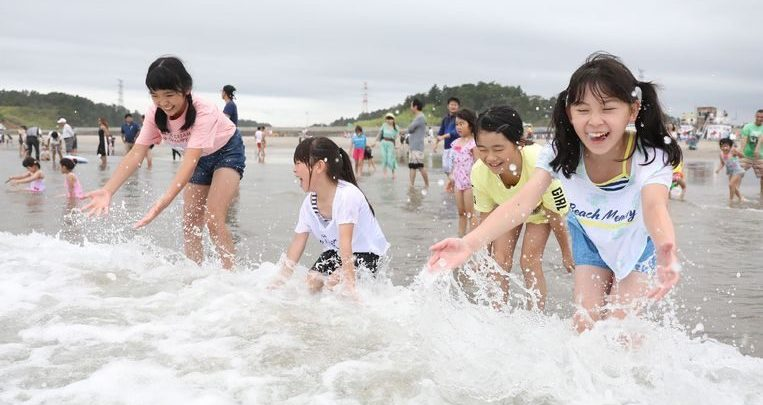 Photo of Beach at Fukushima open eight years after disaster