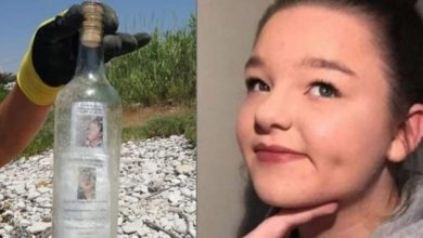 "Emotional bottle mail washes up on the beach: ""my heart broke in 2 pieces"""