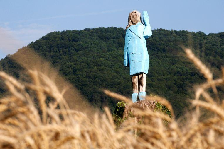 "The brand new statue of Melania Trump: ""Scarecrow"""