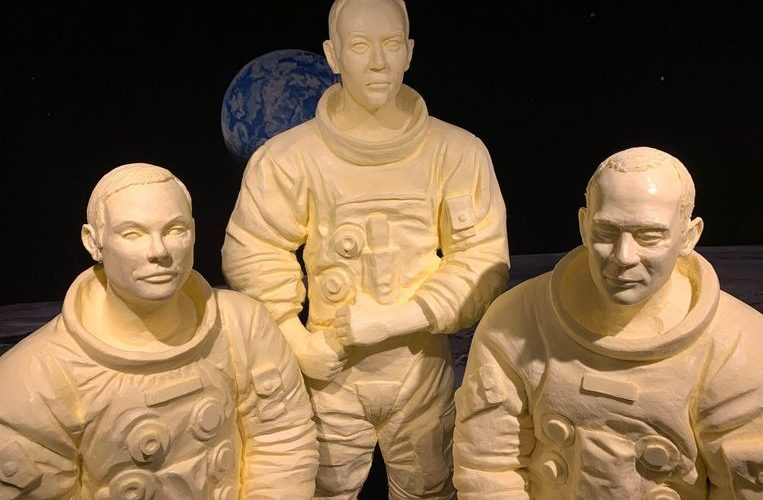 Apollo 11 mission astronauts honored with sculpture made of butter