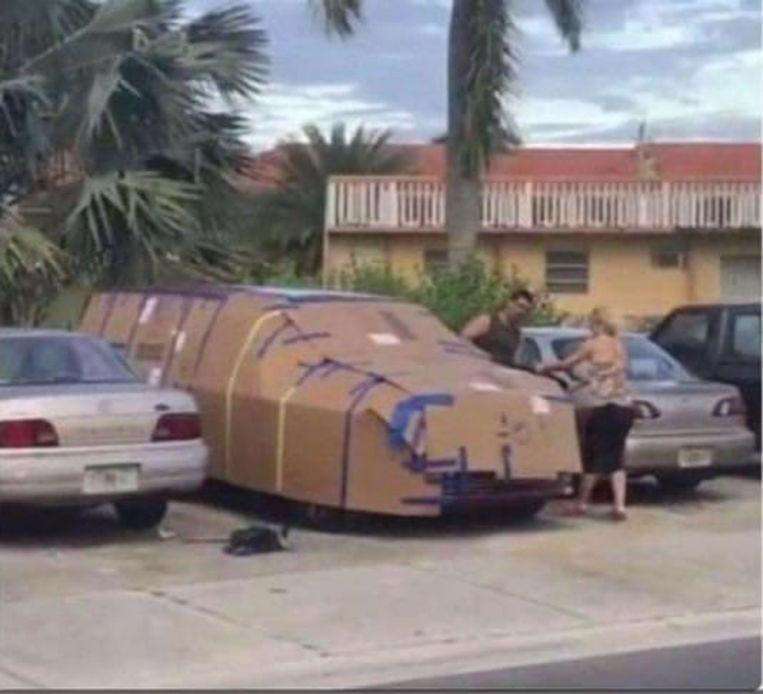 Houses, cars in Florida barricaded with everything possible for Hurricane Dorian