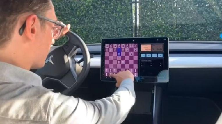 You can now play chess against your Tesla