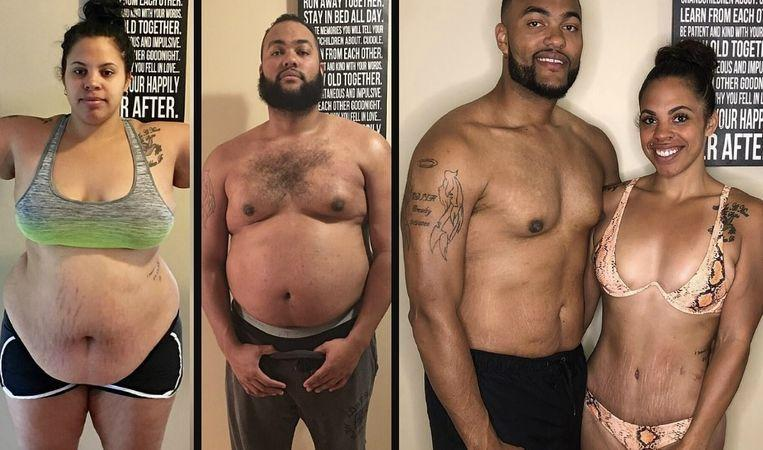 """Jasmine and Jeremy lose 100 kilos in one year: """"We wanted to set a good example to our daughters"""""""