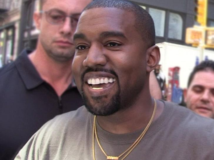 Kanye West presents his new album at a show in Detroit