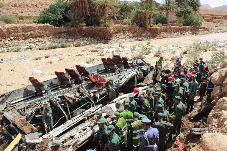 17 killed and 30 injured in a bus accident in Morocco