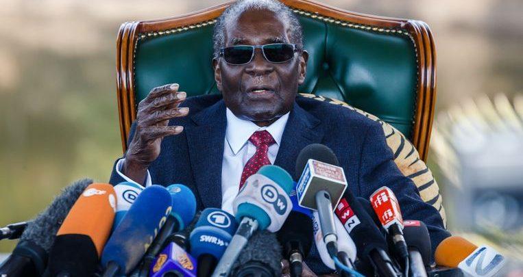 Photo of Zimbabwean former president Robert Mugabe (95) died