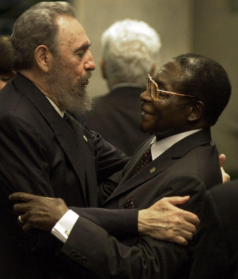 With the Cuban leader Fidel Castro in 2000