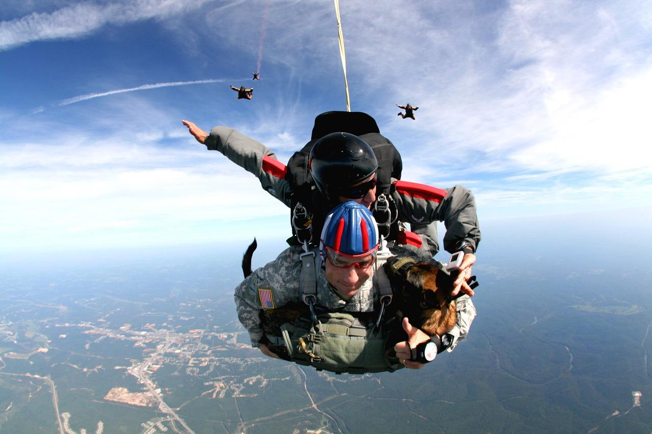 Man gets parachute jump as gift from his wife and falls to pieces
