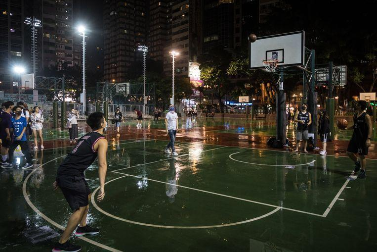 Young people protested symbolically in Hong Kong against the statements of LeBron James.
