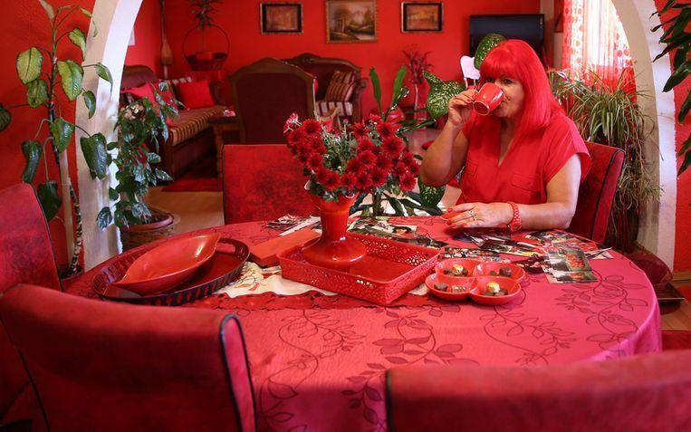 Woman with 'red' obsession wants to continue bizarre lifestyle after her death