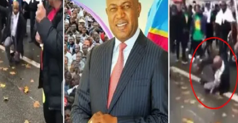 Photo of Governor of Kinshasa beaten by Congolese in France [Video]
