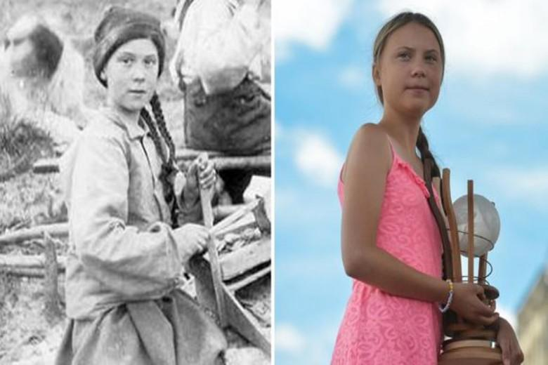"""Greta Thunberg is a time traveler"": 120 year old photo leads to a fuss on social media"