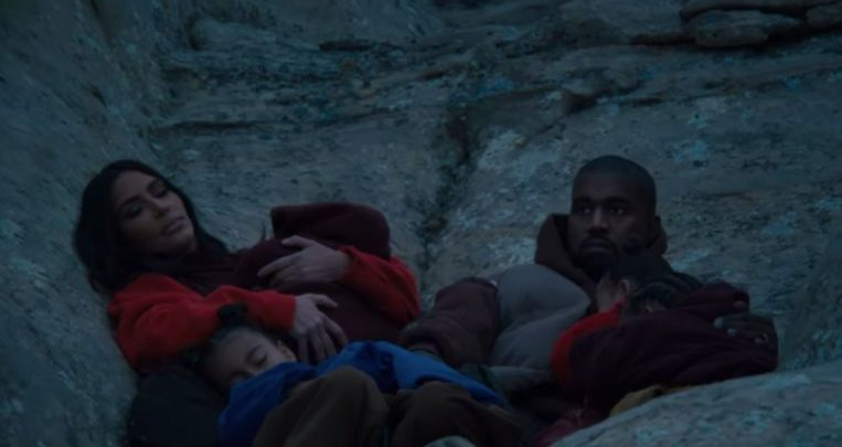 Photo of Kanye West with the whole family in new video clip