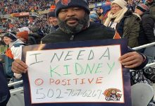 Marcus begs for new kidney during a football match and goes viral